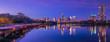 canvas print picture - Austin downtown skyscraper reflection along Colorado River