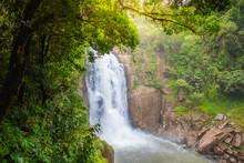 Haew Narok Waterfall In The Deep Forest With Abundant Nature At Khao Yai National Park, Nakhon Nayok, Thailand