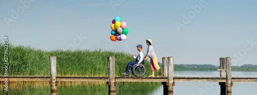 Fototapeta Menschen mit Handicap