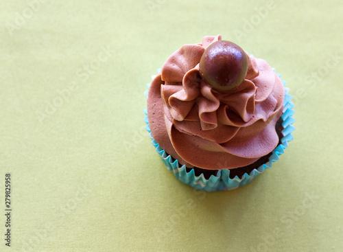 Photo  Chocolate cupcake