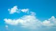 Leinwandbild Motiv Blue sky clouds background. Beautiful landscape with clouds on sky