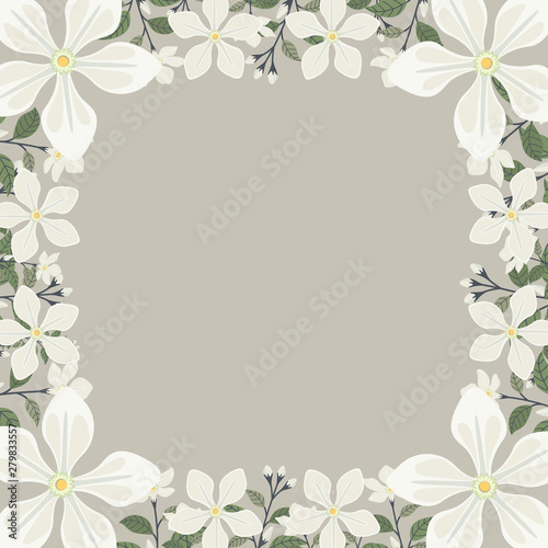 Floral greeting card and invitation template for wedding or ...