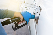Pumping Petrol At Gas Station ...