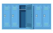 School Locker Vector Design Illustration Isolated On White Background