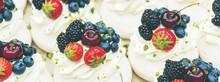 Pavlov Cakes With Fresh Berrie...