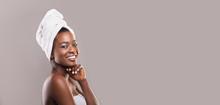 Positive African American Woman Enjoying Spa Procedures