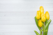 Bouquet Of Bright Yellow Tulip...