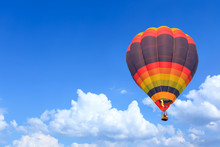 Colorful Hot Air Balloons In F...