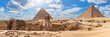 canvas print picture - Giza Pyramids and the Sphinx, beautiful Egyptian panorama