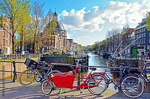 Amsterdam street scene Canvas Print