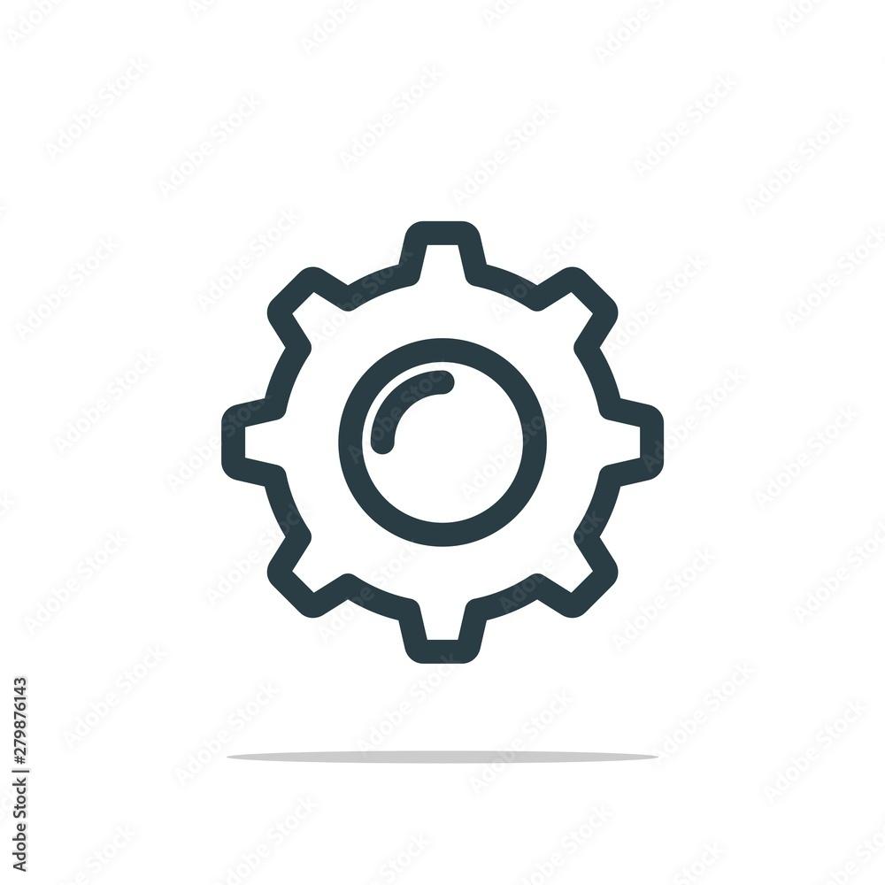 Fototapety, obrazy: Gear Icon Logo Template Illustration Design. Vector EPS 10.