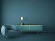 interior design for living area or reception in modern concept design/ 3d illustration,3d rendering