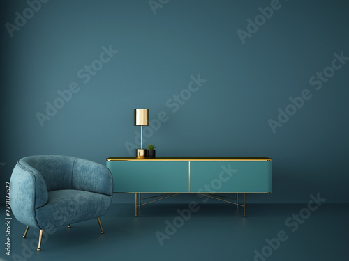 interior design for living area or reception in modern concept design/ 3d illustration,3d rendering