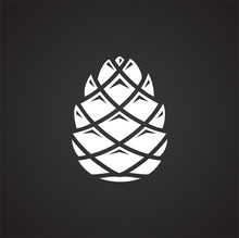 Pine Cone Icon On Background For Graphic And Web Design. Simple Illustration. Internet Concept Symbol For Website Button Or Mobile App.