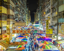 Fa Yuen Street Market At Night, Mong Kok, Kowloon, Hong Kong, China