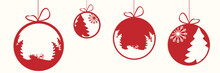 Decorative Christmas Baubles Vector Illustration