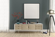 sideboard set with picture frame