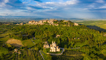 Italy, Tuscany, Siena Province, Montepulciano And Sanctuary San Biagio