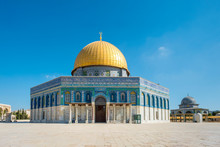 Israel, Jerusalem District, Jerusalem. Dome Of The Rock On Temple Mount.