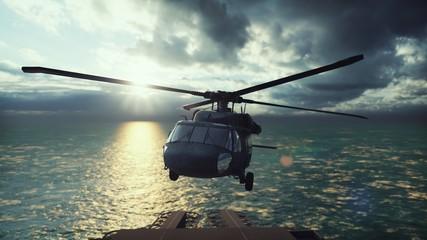 Military helicopter Blackha...