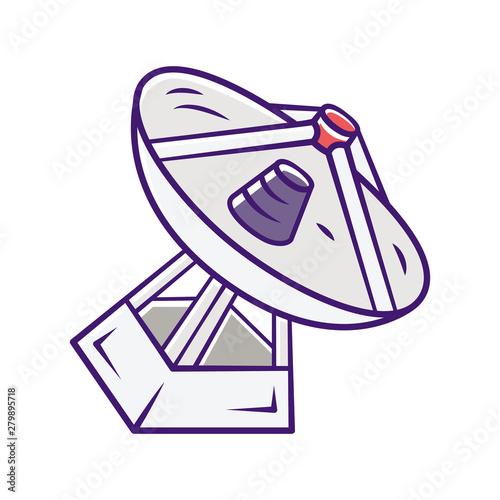 Radio telescope color icon Fototapet