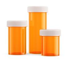 Amber Pharmacy Vials Isolated ...