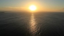 View Of Sunset Over Sea And Wa...