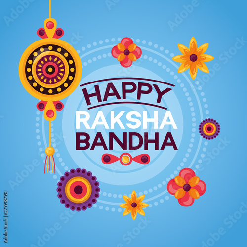 happy raksha bandhan celebration Canvas Print