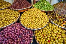 Olives For Sale At Food Market