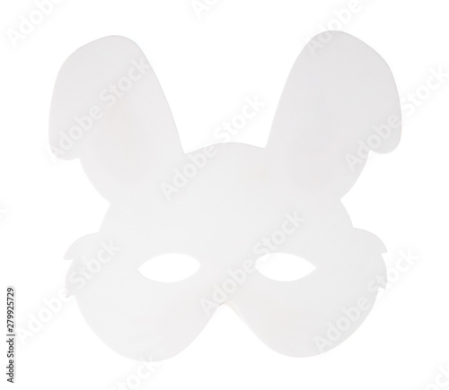 Fotografija  rabbit carnival mask isolated on white background
