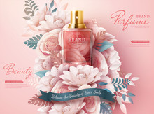 Perfume Ads With Paper Flowers