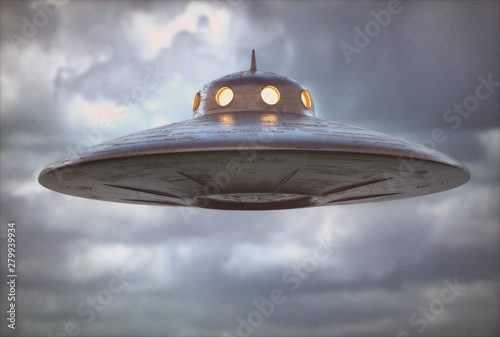 Antique Unidentified Flying Object Wallpaper Mural