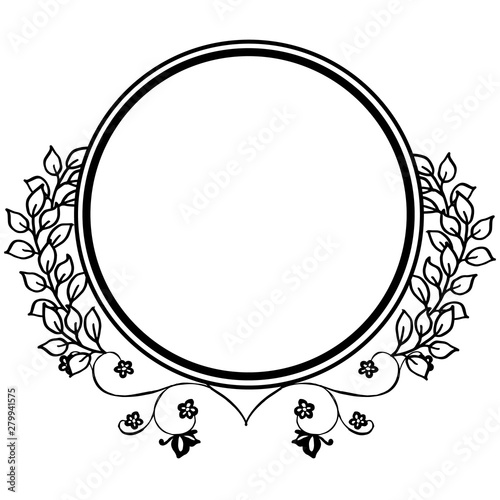 Spoed Foto op Canvas Cartoon draw Texture of wreath frames, isolated on white background. Vector