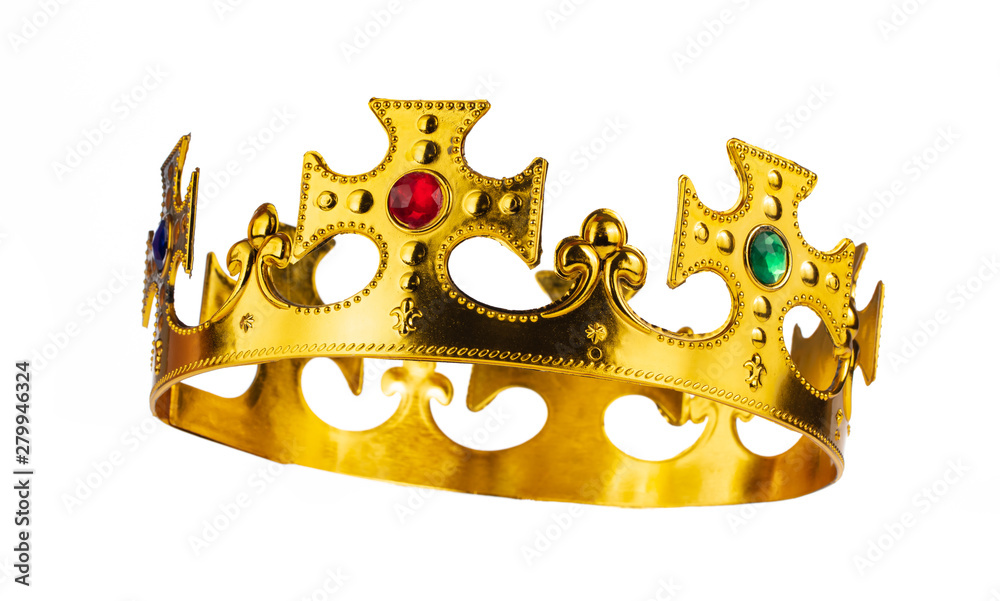 Fototapeta Crown of king isolated on a white background