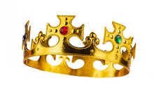 Crown Of King Isolated On A White Background