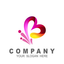 Logo Human And Letter B Design Vector, Charity Icon , Social And Community Symbol