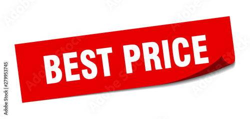 Fotografía best price sticker. best price square isolated sign. best price
