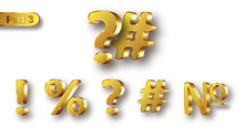 Golden Metal Unique Symbols Se...