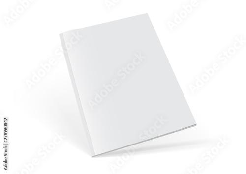 Valokuva white magazine on white background mock up