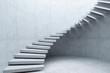 Leinwanddruck Bild - modern staircase in concrete interior, 3d rendering