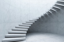 Modern Staircase In Concrete I...