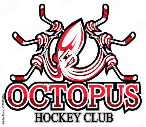 Octopus logo , kraken, devilfish, poulpe, squid Canvas Print