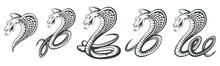 Set Of Black King Cobra Logo. ...