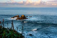Sunrise At Seal Rock, Which Is A Short Distance Offshore From Crescent Bay In Laguna Beach. Seal Rock Is Typically Covered With Many Shorebirds Such As Cormorants And Even A Few California Sea Lions.