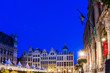 canvas print picture - BRUSSELS, BELGIUM - August 27, 2017: Grand Square in Brussels city