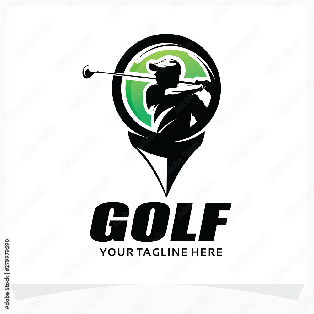 Fototapeta Golf Sport Logo Design Template