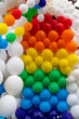 beautifull collection of multicolored helium balloons