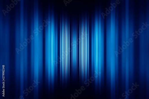 Fotografie, Obraz  Blue blurred stripes background