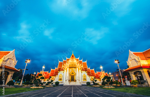 Photo  Unseen thailand, Wat Benchamabophit Dusitvanaram is a Buddhist temple in Bangkok, Thailand