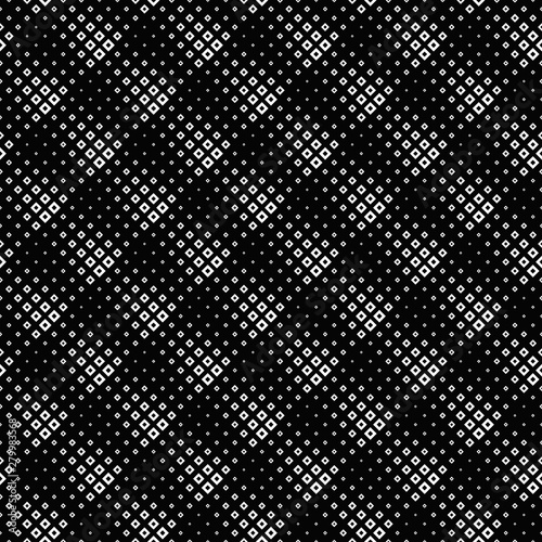 Foto op Aluminium Kunstmatig Geometrical seamless square pattern background design - monochrome vector illustration